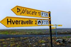 Highlands crossroad sign Royalty Free Stock Photography