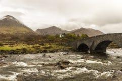 Highlands - Glen Sligachan. Bridge in Glen Sligachan, Skye Island, Scotland Royalty Free Stock Photography