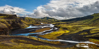 Highlands, Iceland. Somewhere along road F208 in the highlands of Iceland royalty free stock photos