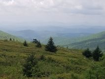 Highlands if Virginia mountains clouds royalty free stock image
