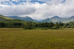 Highlands landscape in Scotland. UK. Taken during the Jacobite Train trip from Fort William to Mallaig Stock Photo