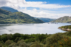 Highlands landscape in Scotland. UK. Taken during the Jacobite Train trip from Fort William to Mallaig Royalty Free Stock Photography