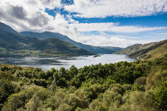Highlands landscape in Scotland. UK. Taken during the Jacobite Train trip from Fort William to Mallaig Stock Image