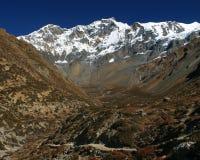 Highlands of Nepal. Near Annapurna Stock Photo