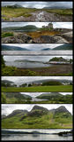 Highlands Panoramics. Eight panoramic views a few sites in the Highlands & x28;Scotland& x29;: The Cuillin Hills from the Sligachan Old Bridge. The Eilean Donan Stock Image
