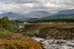 Highlands of Scotland. A river and moorland in the Highland region of Scotland Stock Photography