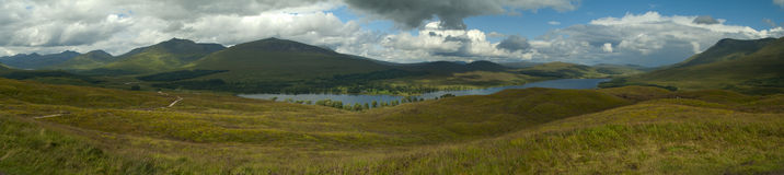 Highlands of Scotland. Panorama of the Highlands of Scotland Stock Photography