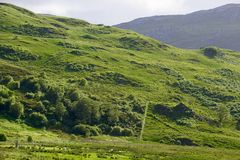 Highlands in Scotland. Green mountain in the Highlands of Scotland Stock Photography