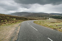 Highlands of Scotland road landscape, Uk Royalty Free Stock Images