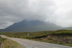 The highlands. Shrouded in clouds Royalty Free Stock Photo