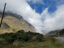 Highlands. South America bolivia death road cycling mountains Stock Photo