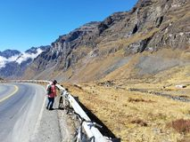 Highlands. South America bolivia death road cycling mountains Royalty Free Stock Image