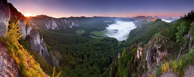Highlands from sulov rockies. View of sulov - highlands from sulov rockies - slovakia - slovak republic royalty free stock image