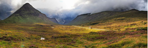 Highlands valley. Of scotland with mountains Stock Image