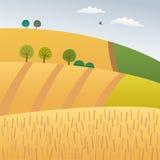 Highlands. Vector illustration of an agriculture landscape Royalty Free Stock Image