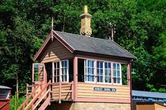 Highley signal box. Royalty Free Stock Photo