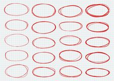 Free Highlight Circles.  Hand Drawn Ovals For Logo Design Stock Photography - 170559972