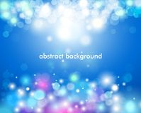 Highlight effect, gloss color bokeh lights and tinsel. Vector illustration of abstract background with color highlights, gloss color bokeh lights and tinsel Stock Images