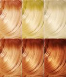 Highlight hair texture background Royalty Free Stock Photos
