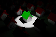 Highlight house on the dark Royalty Free Stock Images