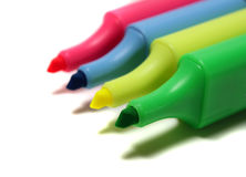 Highlight Pens Royalty Free Stock Photography