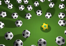 Highlight soccer of 2014. Football game of the year at Brazil, highlight of the world Stock Photo