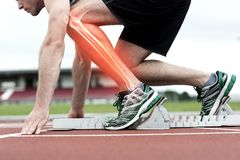 Highlighted bones of man about to race Royalty Free Stock Photos