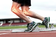 Free Highlighted Bones Of Man About To Race Royalty Free Stock Images - 54758629