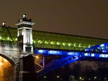 Highlighted bridge construction Royalty Free Stock Photos