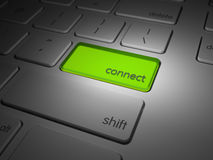 Highlighted connect button Stock Image