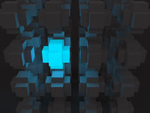 Highlighted cubes Stock Photo