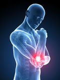 Highlighted elbow Royalty Free Stock Photo