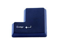 Highlighted enter key Stock Photography