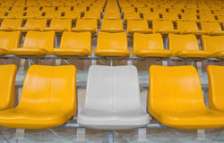 Highlighted grey stadium seat Royalty Free Stock Image