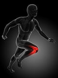 Highlighted human knee Royalty Free Stock Images