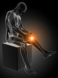 Highlighted knee joint Royalty Free Stock Image