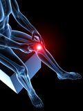 Highlighted knee joint Royalty Free Stock Photos
