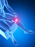 Highlighted knee joint stock illustration