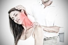 Composite image of highlighted pain royalty free stock photos