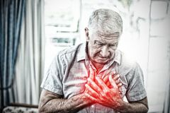 Composite image of highlighted pain royalty free stock photography
