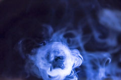 Highlighted smoke for backgrounds Stock Images