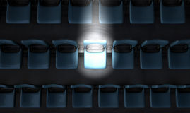 Highlighted Stadium Seat Stock Images