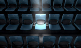 Highlighted Stadium Seat Royalty Free Stock Images