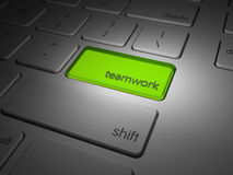 Highlighted teamwork computer key Stock Image