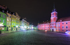 Highlighted in Warsaw Royal Castle Royalty Free Stock Photography