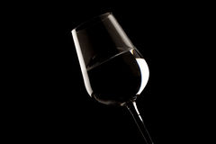 Highlighted wine glass edges Stock Photos