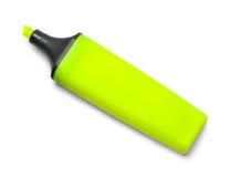 Highlighter amarillo sin el casquillo Imagen de archivo libre de regalías