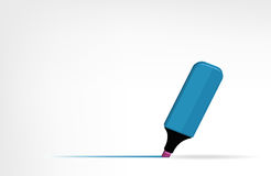 Highlighter blue Royalty Free Stock Image