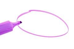 Highlighter cor-de-rosa imagem de stock royalty free