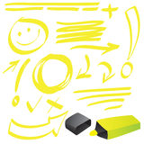 Highlighter Doodle Royalty Free Stock Photography
